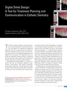 Digital Smile Design: A Tool for Treatment Planning and Communication in Esthetic Dentistry - COACHMAN