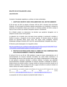 Boletin Actualizacion Legal Ambiental Jul2015