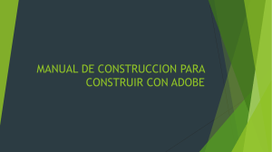 MANUAL DE CONSTRUCCION PARA CONSTRUIR CON ADOBE