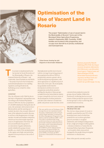 Optimisation of the Use of Vacant Land in Rosario