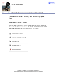 Giunta and Flaherty Latin American Art History An Historiographic Turn