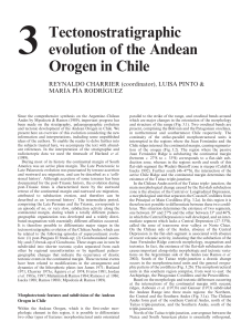 Chapter 3 Tectonostratigraphic evolution of the Andean Orogen in Chile (1)