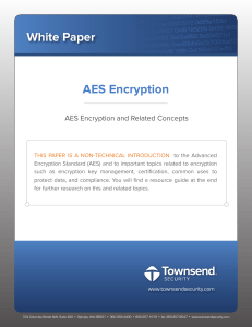 AES Encryption and Related Concepts