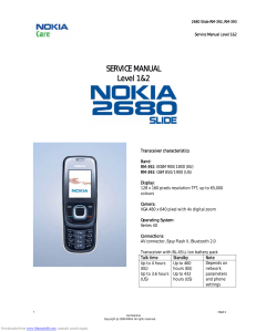 2680 Slide RM-392, RM-393 Service Manual Level 1&2