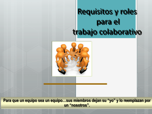 Requisitos y roles  trabaj en equipo