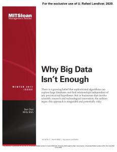Why Big Data Isnt Enough