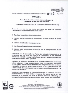 6 DIRECTIVA 102 CAP III GUIA TABLA RETENCION DOCUMENTAL