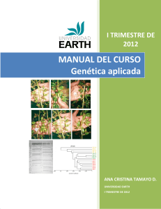Manual de GENETICA TRIMESTRE I 2012