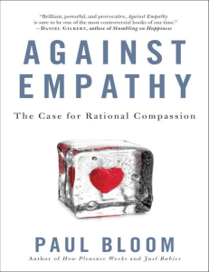 Against empathy libro