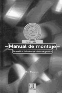Manual de Montaje Cinematografico - Roy Thompson