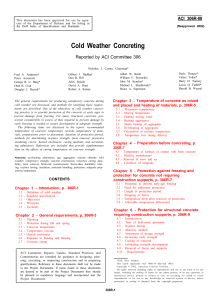 Cold Weather Concreting Reported by ACI