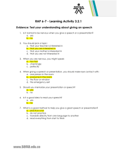 Producir RAP 6-7 - Evidence - 3.2.1 Test your understanding about giving an speech
