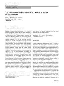 Hoffmann, Asnaani, Vonk, Sawyer y Fang - The Efficacy Of Cognitive Behavioral Therapy A Review (2012)