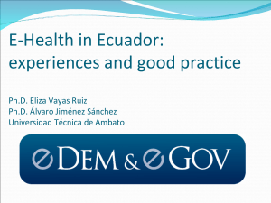 e-health in Ecuador: experiences and good practice