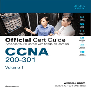 CCNA 200-301 Official Cert Guide #1