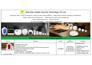 2019 Smart  home and alarm system (Golden Security -- Anna Yuan)
