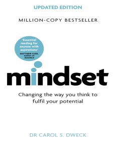 Mindset - Updated Edition Changing The Way You think To Fulfil Your Potential by Carol S. Dweck (z-lib.org)