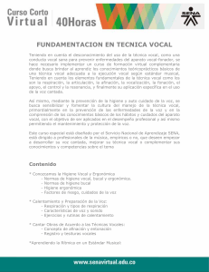 SENA tecnica vocal