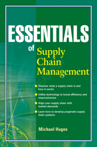 Wiley - Essentials of Supply Chain Management 2