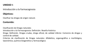 Unida I Farmacognosia