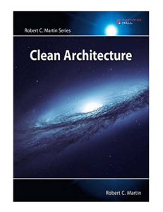 Clean Architecture A Craftsmans Guide to