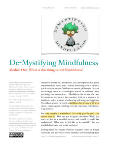 Module1 Reading  Mindfulness