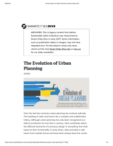 The Evolution of Urban Planning   Smart Cities Dive