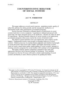Counterintuitive Behavior of Social Systems