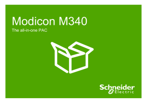 Modicon M340 The all-in-one PAC